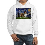 Starry / Sheltie (s&w) Hooded Sweatshirt