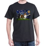 Starry / Sheltie (s&w) Dark T-Shirt