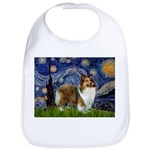 Starry / Sheltie (s&w) Bib