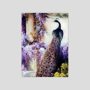 Bidau Peacock, Wisteria, Doves 5'x7'area R