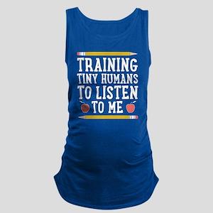 Training Tiny Humans Maternity Tank Top