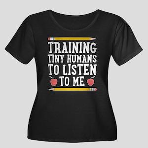 Training Tiny Humans Plus Size T-Shirt