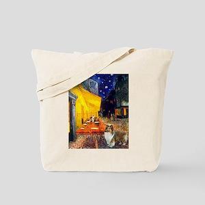 Cafe / Sheltie Tote Bag