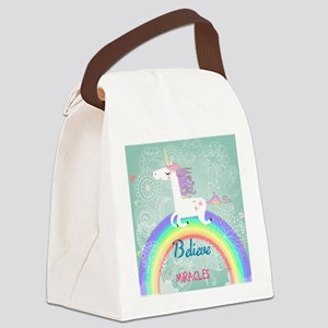 Unicorn Canvas Lunch Bag