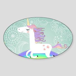 Unicorn Sticker (Oval)
