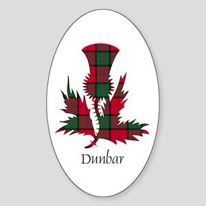Thistle - Dunbar Sticker (Oval)