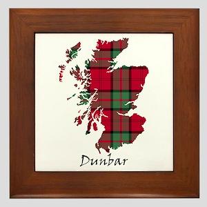 Map - Dunbar Framed Tile
