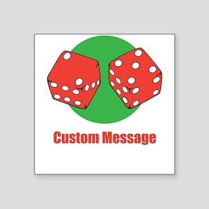 One Line Custom Dice Craps Design Sticker