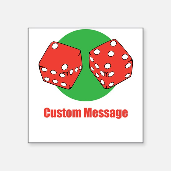 One Line Custom Dice Craps Design Sticker