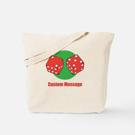One Line Custom Dice Craps Design Tote Bag