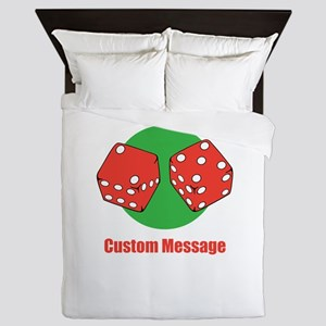 One Line Custom Dice Craps Design Queen Duvet
