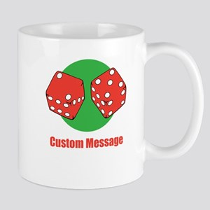 One Line Custom Dice Craps Design Mugs