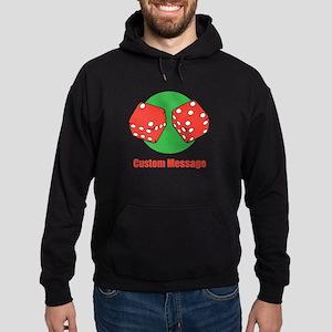 One Line Custom Dice Craps Design Hoodie