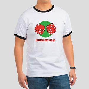 One Line Custom Dice Craps Design T-Shirt