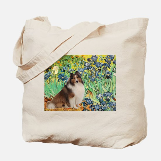 Irises / Sheltie Tote Bag