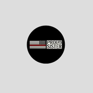 Firefighter: Proud Sister (Black Flag, Mini Button