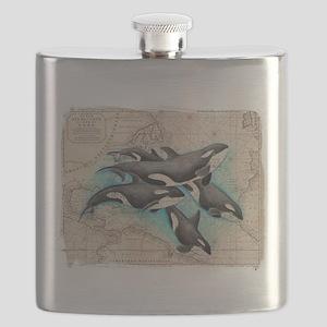 Orca Map Atlas Mirror Flask