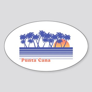 Punta Cana Sticker (Oval)