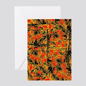 Golden Red Greeting Cards