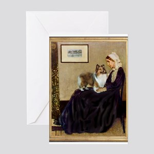 Whistler's / Sheltie Greeting Card