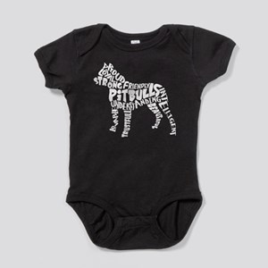 Pit Bull Word Art Baby Bodysuit