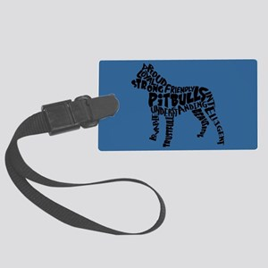 Pit Bull Word Art Large Luggage Tag