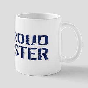 U.S. Navy: Proud Sister (Blue & White) Mug