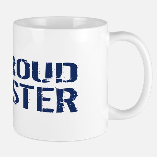 U.S. Navy: Proud Sister (Blue & White) Mug
