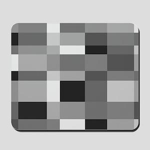 Grayscale Check Mousepad