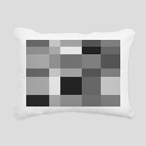 Grayscale Check Rectangular Canvas Pillow