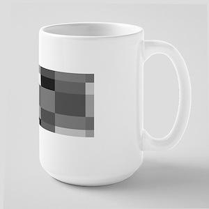 Grayscale Check Mugs
