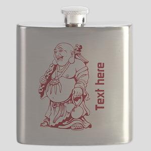 Custom One Line Buddha Meditation Design Flask