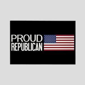 Republican: Proud Republican & Am Rectangle Magnet