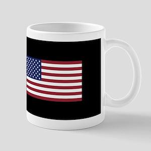 Democrat: Proud Democrat & American Fla Mug