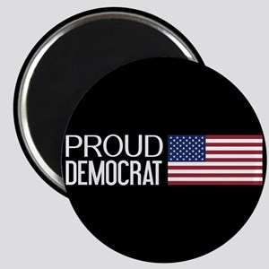 Democrat: Proud Democrat & American Flag (B Magnet