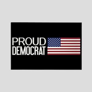 Democrat: Proud Democrat & Americ Rectangle Magnet