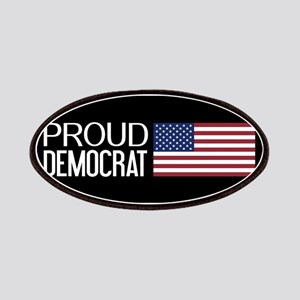 Democrat: Proud Democrat & American Flag (Bl Patch