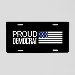 Democrat: Proud Democrat & Aluminum License Plate