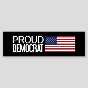 Democrat: Proud Democrat & Americ Sticker (Bumper)