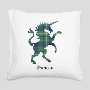 Unicorn - Duncan Square Canvas Pillow