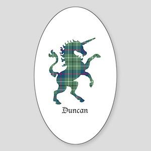 Unicorn - Duncan Sticker (Oval)