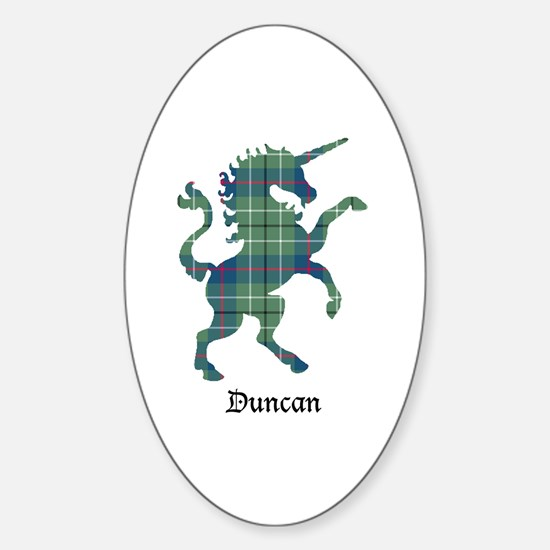 Unicorn - Duncan Sticker (Oval)
