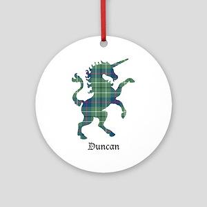 Unicorn - Duncan Round Ornament