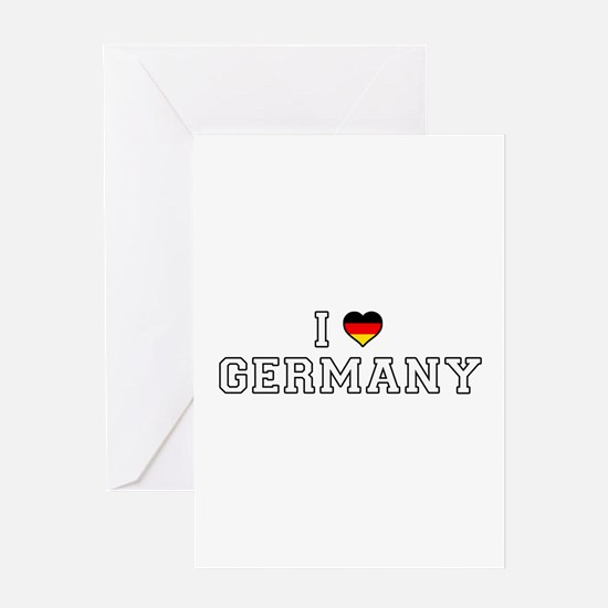 I Love Germany Greeting Cards