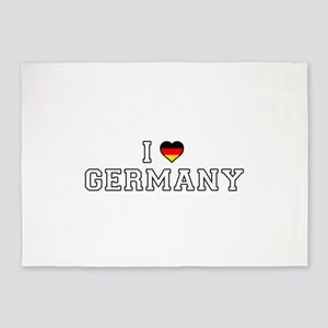 I Love Germany 5'x7'Area Rug