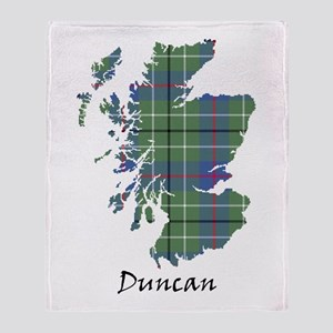 Map - Duncan Throw Blanket