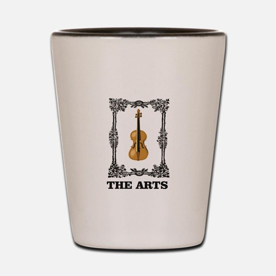 fiddle and the Arts Shot Glass