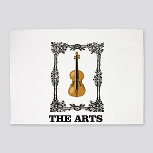fiddle and the Arts 5'x7'Area Rug