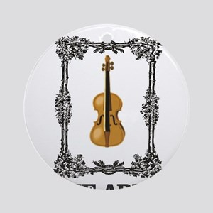 fiddle and the Arts Round Ornament