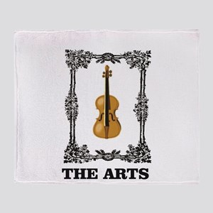 fiddle and the Arts Throw Blanket